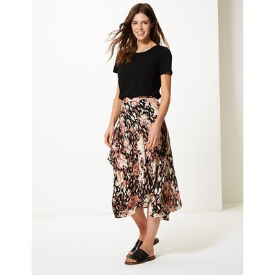 M&S Collection Animal Print Wrap Style Skirt