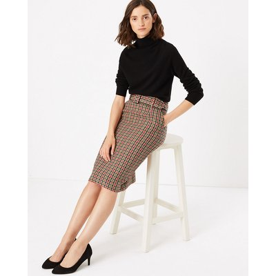 M&S Collection GinghamPencil Skirt