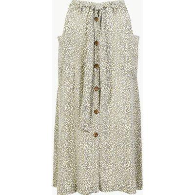 Per Una Ditsy Floral Tie Waist Midi Skirt