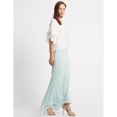 M&S Collection Fishtail Floral Lace Pencil Maxi Skirt