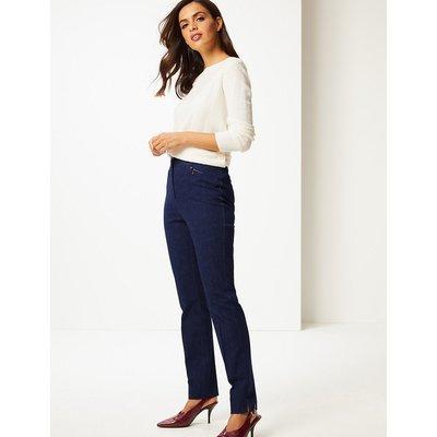 M&S Collection Cotton Rich Slim Leg Trousers