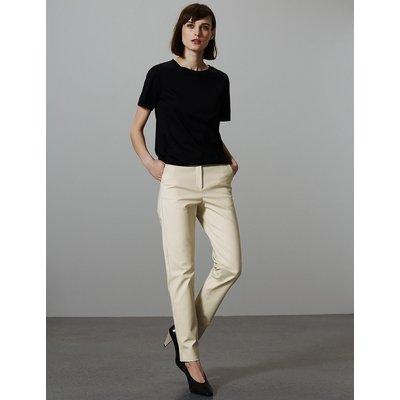 Autograph Cotton Modal Slim Leg Ankle Grazer Trousers
