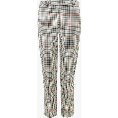 M&S Collection PETITE Mia Slim Checked Trousers