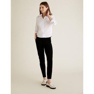 The Everywear Trouser PETITE Cotton Blend Slim Leg Trousers