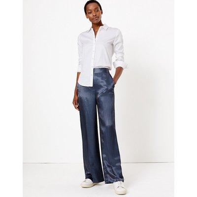 M&S Collection Geometric Jacquard Wide Leg Trousers