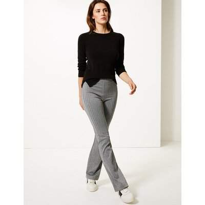 M&S Collection Herringbone Slim Boot Cut Trousers