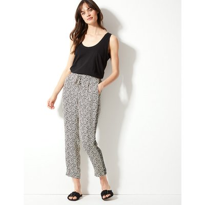 M&S Collection Animal Print Tapered Ankle Grazer Trousers