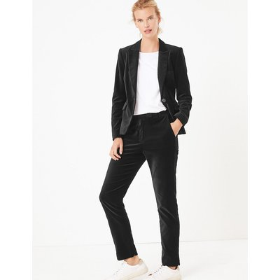 M&S Collection Mia Velvet Slim Ankle Grazer Trousers