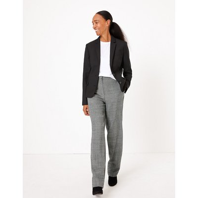 M&S Collection Freya Checked Straight Leg Trousers