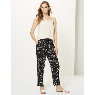 M&S Collection Tapered Leg Ankle Grazer Trousers