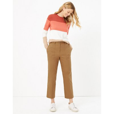 M&S Collection Evie Straight Leg Twill 7/8th Trousers