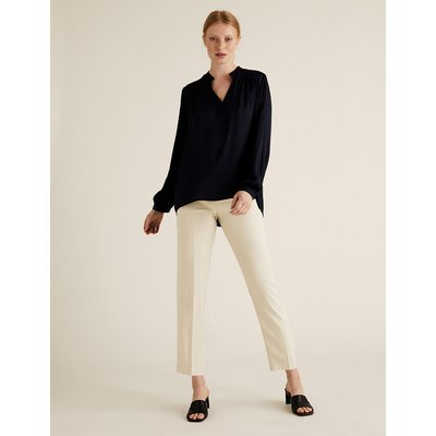 M&S Collection Soft Touch Tapered 7/8 Trousers