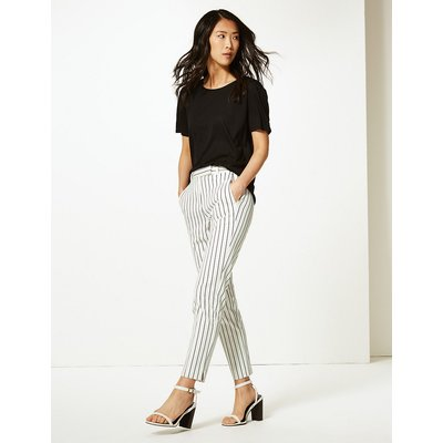 M&S Collection Mia Slim Striped Ankle Grazer Trousers
