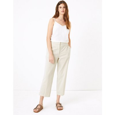 M&S Collection Evie Straight Leg Pure Cotton Trousers