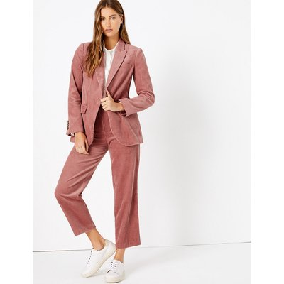 M&S Collection Evie Corduroy Straight Leg 7/8th Trousers