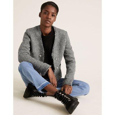 M&S Collection Tweed Slim Short Jacket