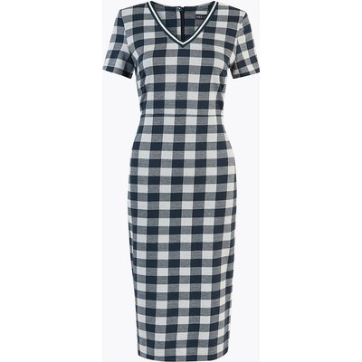 M&S Collection Jersey Tailored Gingham Dress