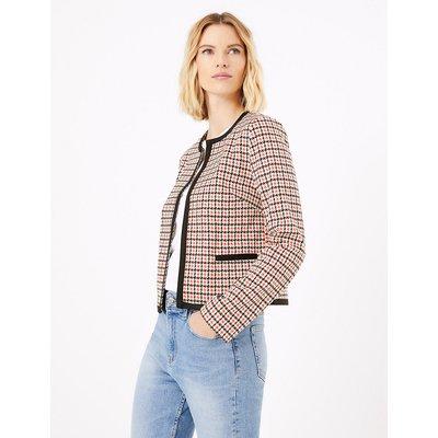 M&S Collection Jersey Slim Dogtooth Blazer