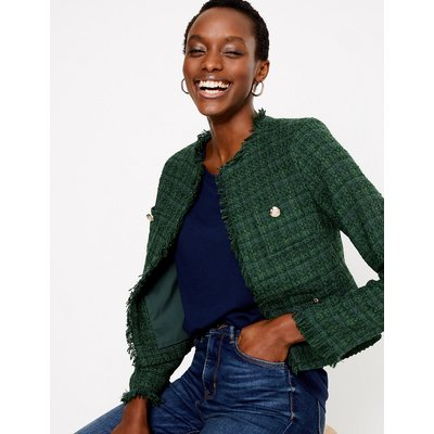M&S Collection Tweed Straight Short Jacket