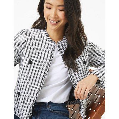 M&S Collection Herringbone Tweed Short Jacket