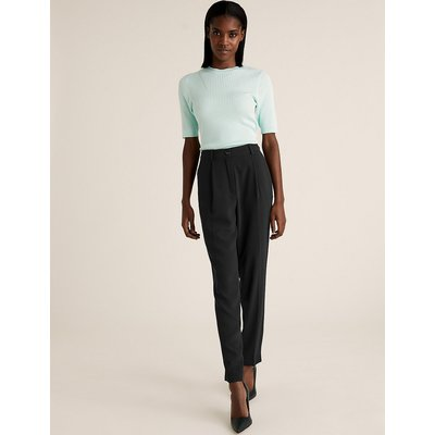 M&S Collection Crepe Tapered 7/8 Trousers