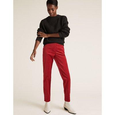 M&S Collection Mia Slim Velvet Ankle Grazer Trousers