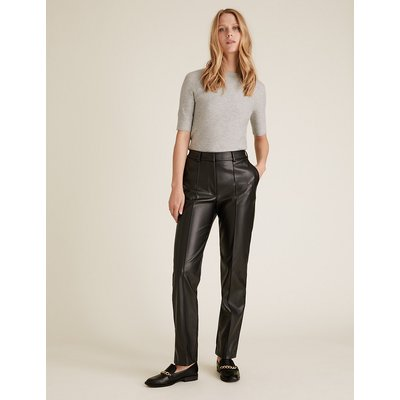 M&S Collection Freya Straight Leg Faux Leather Trousers
