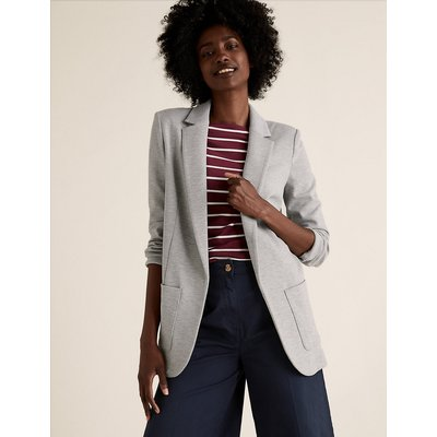 M&S Collection Jersey Single Breasted Blazer