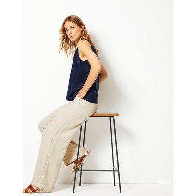 M&S Collection Linen Blend Wide Leg Trousers
