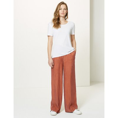M&S Collection Striped Wide Leg Trousers