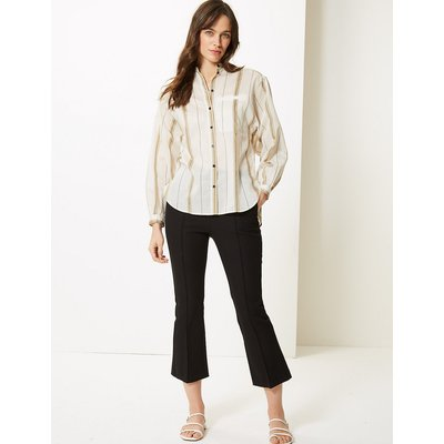 M&S Collection Cropped Kickflare Trousers
