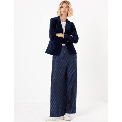 M&S Collection Jacquard Wide Leg Trousers