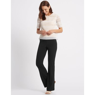 M&S Collection 4 Way Stretch Slim Bootcut Trousers