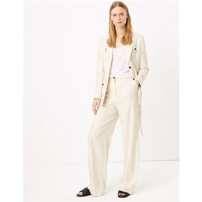 M&S Collection Linen Wide Leg Trousers