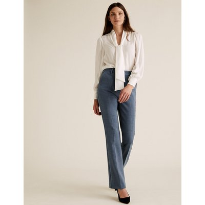 M&S Collection High Waisted Flared Leg Trousers