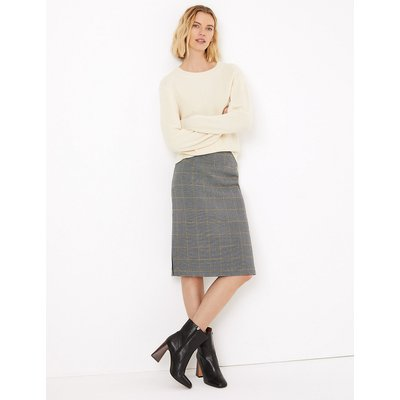 M&S Collection Checked Tailored Pencil Skirt