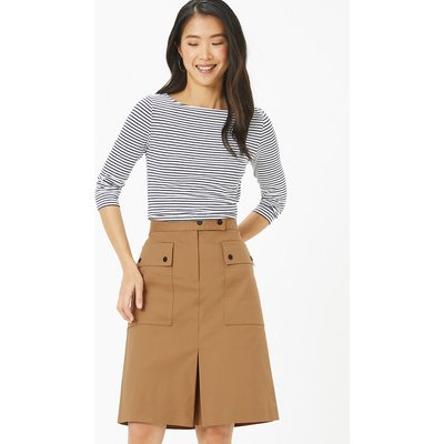 M&S Collection Cotton Rich Utility A-Line Skirt