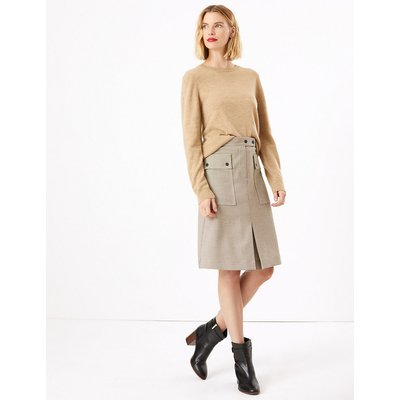 M&S Collection Checked Utility A-Line Skirt