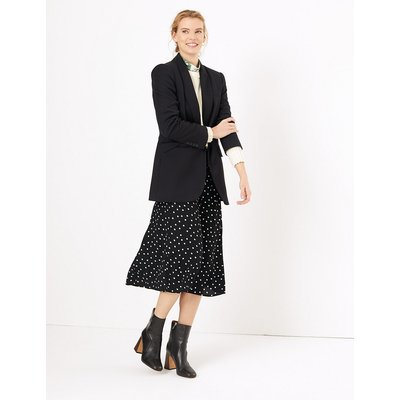 M&S Collection Polka Dot A-Line Midi Skirt