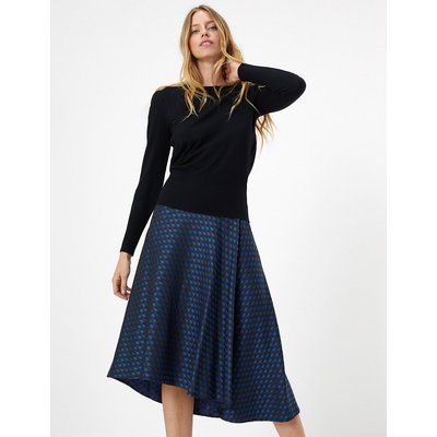 M&S Collection Jacquard Pleated Midi Skirt