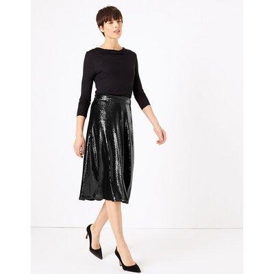 M&S Collection Sequin Slip Midi Skirt