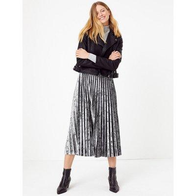 M&S Collection Velvet Pleated Midi Skirt