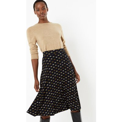 M&S Collection Jersey Butterfly Print Circle Midi Skirt