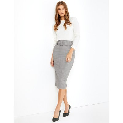 M&S Collection Belted Pencil Midi Skirt