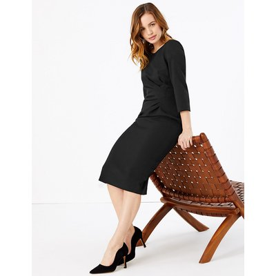 M&S Collection PETITE 3/4 Sleeve Bodycon Dress