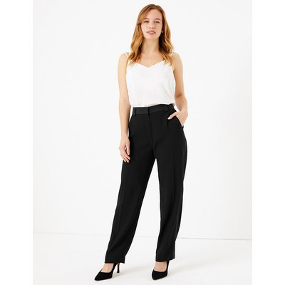 M&S Collection PETITE Straight Leg Tuxedo Trousers