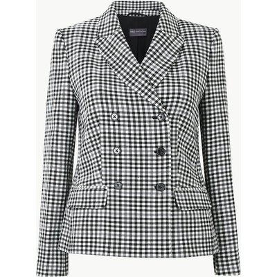 M&S Collection PETITE Checked Blazer