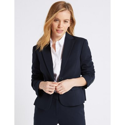 M&S Collection PETITE Single Breasted Blazer