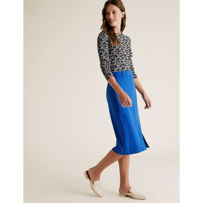 M&S Collection Split Front Midi Pencil Skirt