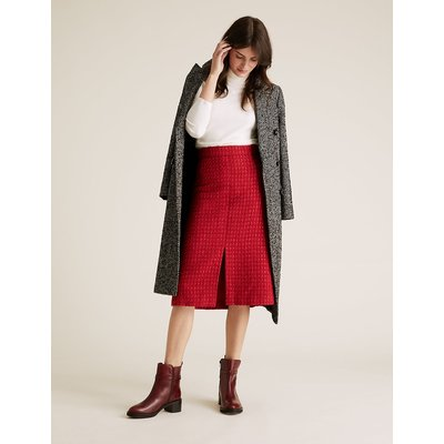 M&S Collection Wool Tweed Midi A-Line Skirt